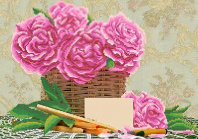 Наборы для вышивания бисером розы.