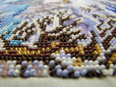 Схемы вышивки бисером с номерами цветов бисера.