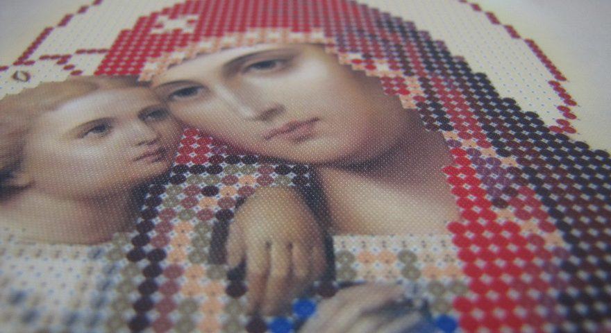 Схемы вышивки бисером иконы Божьей Матери.